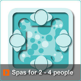 Algarve Hot Tub Spas for 2 to 4 people