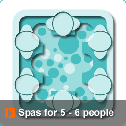 Algarve Hot Tub Spas for 5 to 6 people