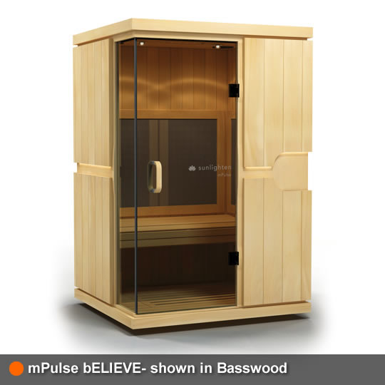 mPulse Sauna bELIEVE Basswood